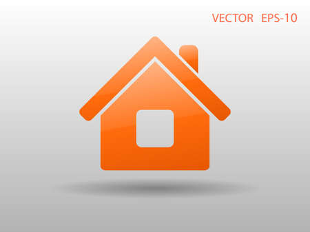 home icon: Flat icon of home Illustration