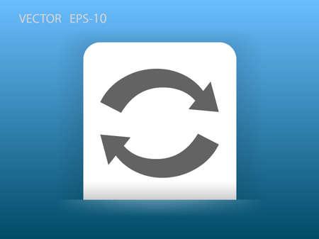 c�clico: Flat icon of cyclic Vectores