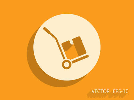 hand truck: Hand truck icon, vector illustration