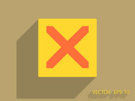 prohibit: Flat  icon of prohibit