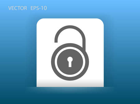 coded: Flat icon of unlock