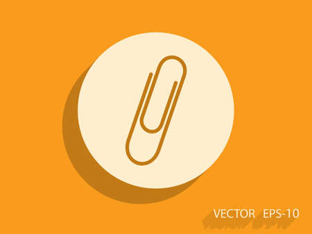 staple: Paperclip icon, vector illustration
