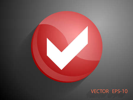 check icon: Flat icon of check box Illustration