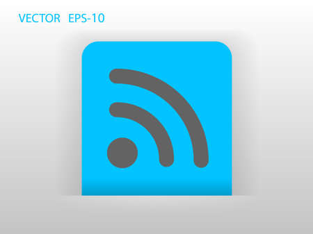 rss: Flat icon of rss Illustration