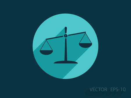 truthfulness: Flat  icon of Justice