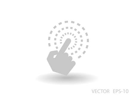 hand touch: Flat long shadow Hand Touch icon, vector illustration Illustration
