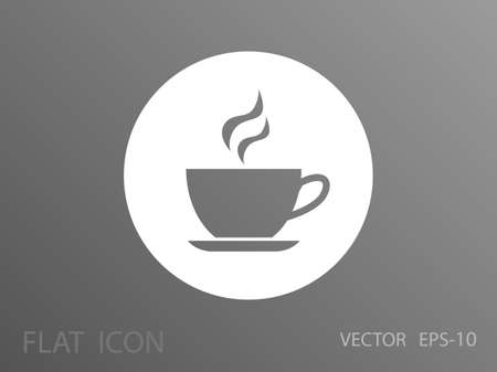hot drink: Cup of hot drink icon, vector illustration