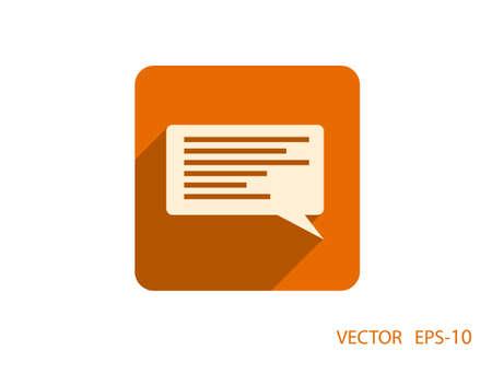 blog icon: Flat icon of a communication