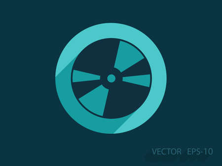 dvd: Flat  icon of DVD disc Illustration