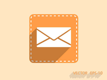 writing on screen: Flat icon of letter Illustration