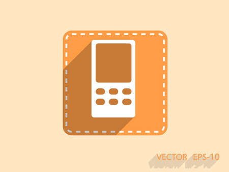cellphone: Flat  icon of cellphone