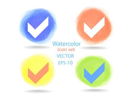 negativity: Flat icon of check box Illustration