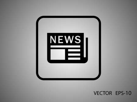 news: Flat  icon of news