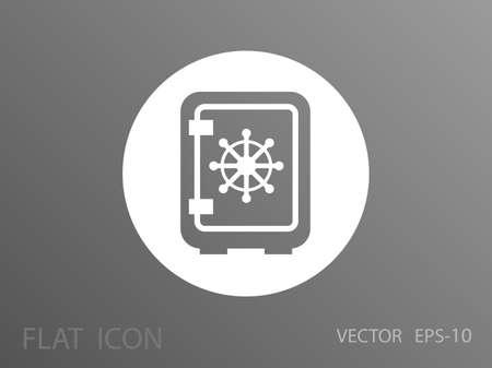 safe lock: Flat icon of safe Illustration
