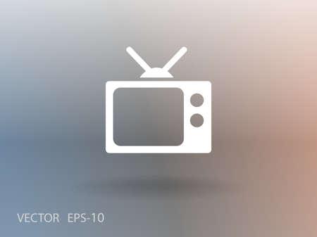 Flat icon of tv Illustration