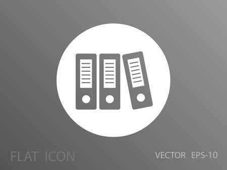 binders: Row of binders icon, vector illustration Illustration