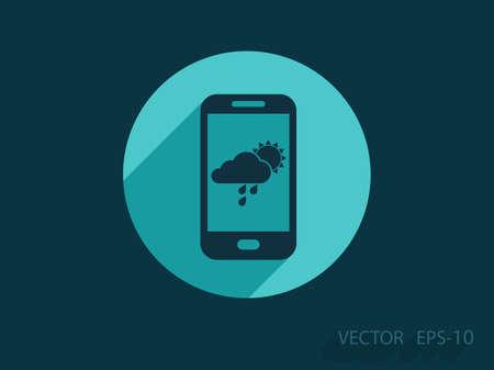 phone isolated: Forecast icon