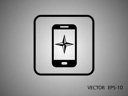 smartphone icon: Flat icon of smartphone Illustration