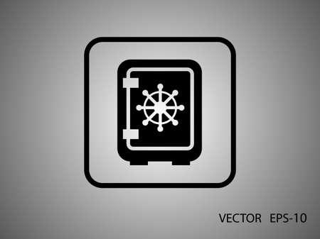 dial lock: Flat icon of safe Illustration