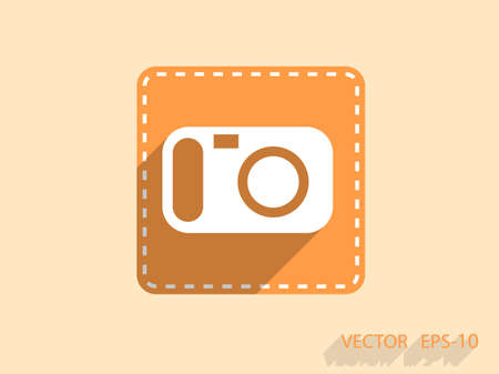 pic  picture: Flat icon of a camera