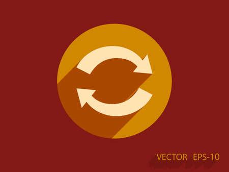 cíclico: Icono plana de cíclico