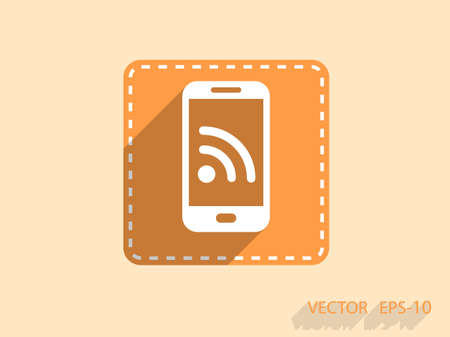 syndication: RSS mobile icon