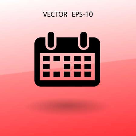 calendar icon: Flat icon of calendar