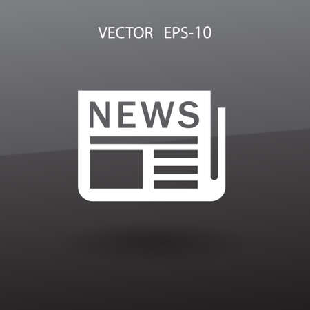 reportage: Flat  icon of news