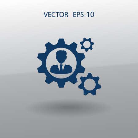 business partner: Team work icon Illustration