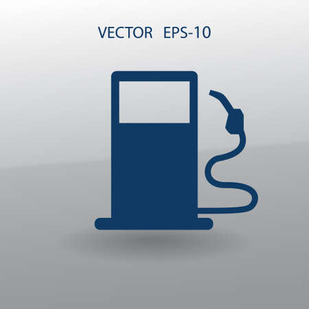 unleaded: Flat fuel icon. Vector Illustration
