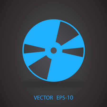 Flat  icon of DVD disc Illustration