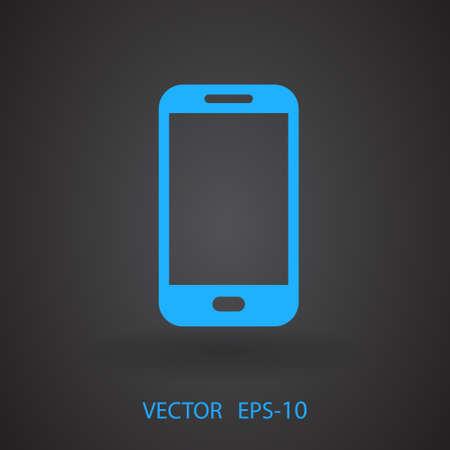 communicator: Flat icon of smartphone Illustration