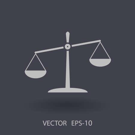 punish: Flat  icon of Justice