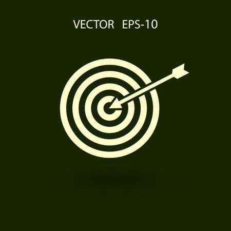 Wohnung Symbol des Ziel Vektorgrafik