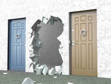 key hole: Alternative exit