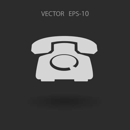 phone icon: Flat icon of a phone
