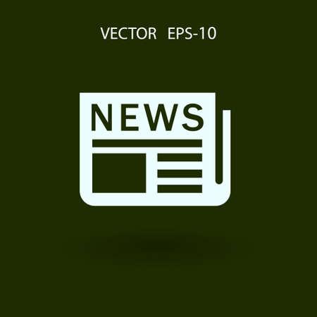 newsprint: Flat  icon of news