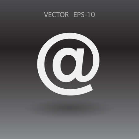 email icon: Flat icon of email Illustration