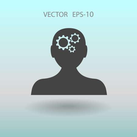 concentration gear: Thinking icon. vector illustration Illustration