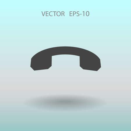 miss call: Call off icon. vector illustration Illustration