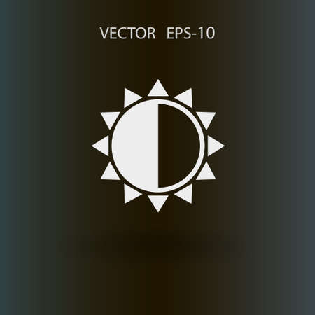 brightness: Brightness icon. vector illustration
