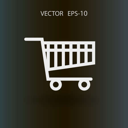 shopping chart: Flat icon of shopping chart. vector illustration