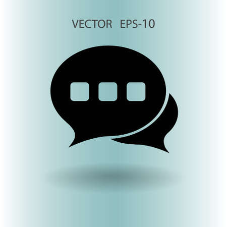 Flat  icon of a communication. vector illustration Illustration