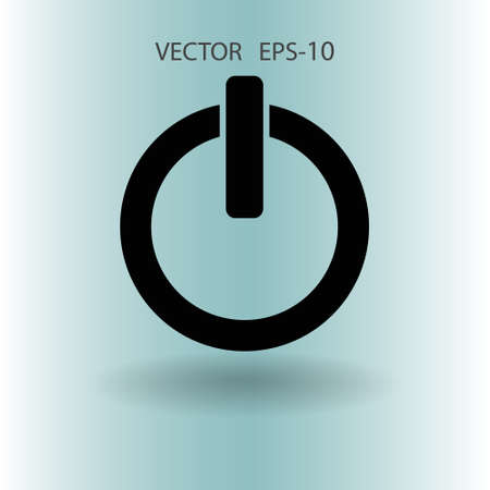 Flat icon of power. vector illustration