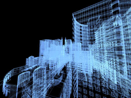 architecture: Abstract architecture background illustration