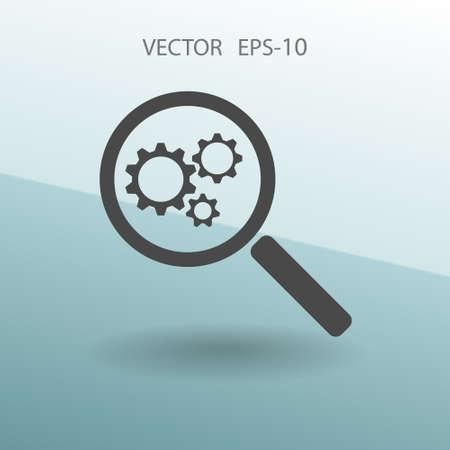 computing machine: SEO icon. vector illustration