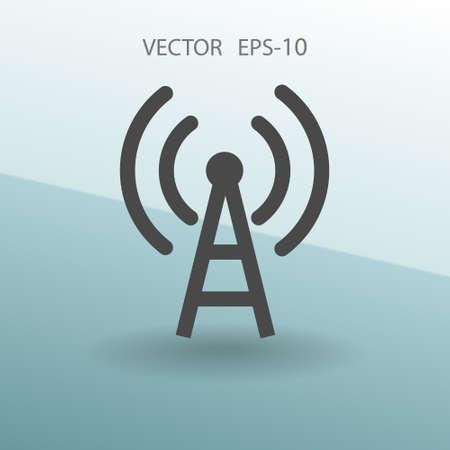 Flat icon of wifi. vector illustration