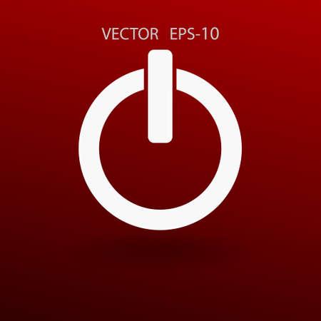 Flat icon of power. vector illustration