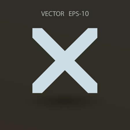 prohibit: Flat  icon of prohibit. vector illustration Illustration