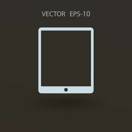 touchpad: Flat icon of touchpad. vector illustration